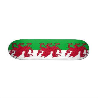 Skateboard mit Flagge von Wales Individuelle Skatedecks