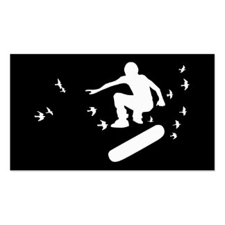 Skateboard mit Vögeln Visitenkarten