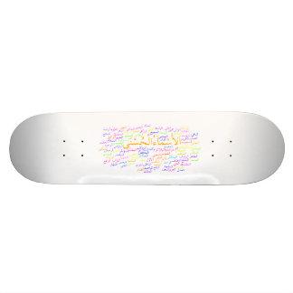 Skateboard-Plattform: 99 Namen von Allah Personalisiertes Deck