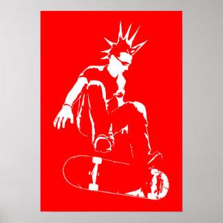 Skateboard-Punk Plakat