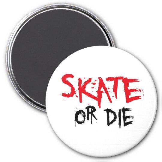 skateboard runder magnet 7,6 cm