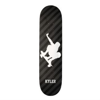 Skateboard; Schwarze u. dunkelgraue Streifen 20,1 Cm Skateboard Deck