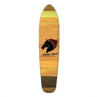 Skateboard Skater Spirit mit abstarkten Mustern Bedruckte Skateboarddecks