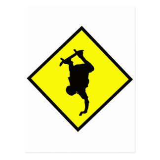 Skateboard-Überfahrt-Zeichen Postkarten