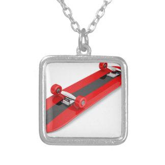 Skateboard Versilberte Kette