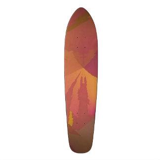 """Skateboard Wein/Gold des Entwurfs 1 """"keines 19,1 Cm Old School Skateboard Deck"""