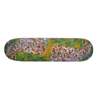 Skateboard with Buddhist Graffiti-Design SAMSARA Personalisiertes Skateboarddeck