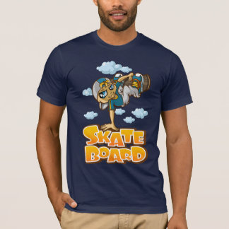 Skateboarder and clouds T-Shirt
