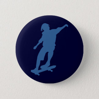 Skateboarder-Silhouette-Button-Rückseiten-Knopf Runder Button 5,1 Cm