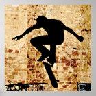 Skateboarder-Silhouette-Plakat Poster