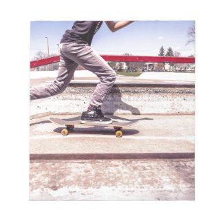 Skateboardfahrer Notizblock