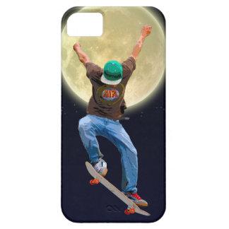 Skateboardfahrer-u. Vollmond-Aktions-Sport-Kunst iPhone 5 Schutzhülle