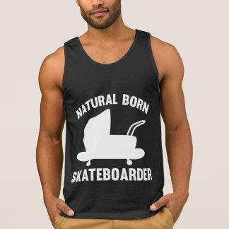Skateboardfahrer von Geburt Tank Top