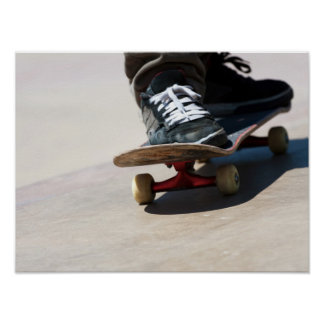 Skateboarding Nahaufnahme Plakatdruck
