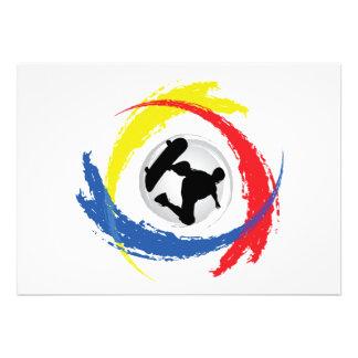 Skateboarding Tricolor Emblem Personalisierte Einladungskarte