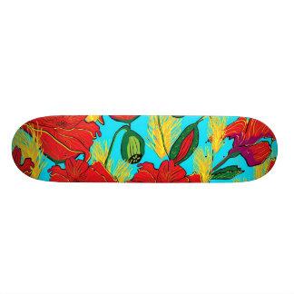 Skatebord Mohnblumen Wiese Bedrucktes Skateboard