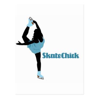 SkateChick Logo Postkarte