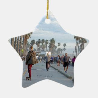 Skaten zu Venedig-Strand Keramik Ornament
