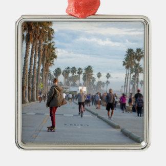 Skaten zu Venedig-Strand Silbernes Ornament