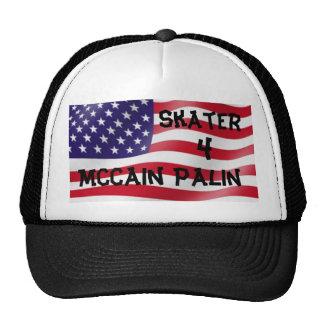 Skater 4 McCain Palin Tucker Hut Retrokultmützen
