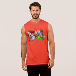 Skater Baumwoll-Shirt in Rot Ärmelloses Shirt