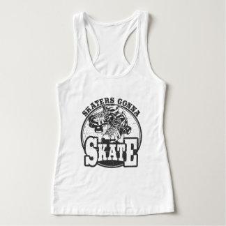 Skater, die zu den Skaten - Rollen-Derby-Shirt Tank Top