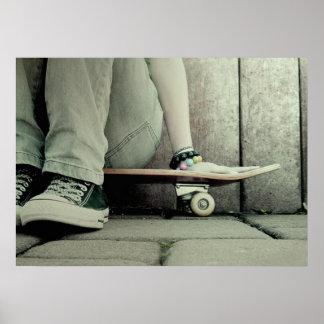Skater-Mädchen-Plakat Poster