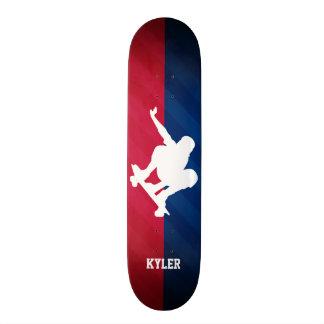 Skater; Rot, weiß und Blau Individuelle Skatedecks
