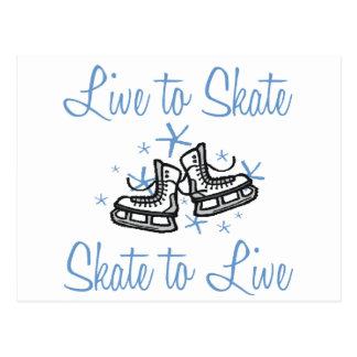 SkaterChick Live zu den Skaten Postkarte