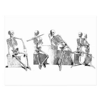 Skeleton Band Postkarte