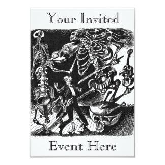 Skeleton Bandeinladung 8,9 X 12,7 Cm Einladungskarte