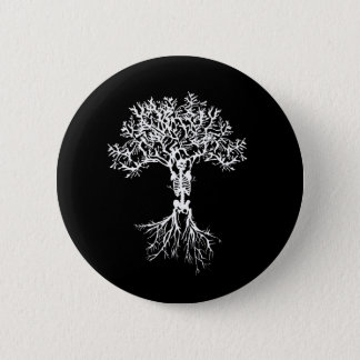 Skeleton Baum-Knopf Runder Button 5,7 Cm