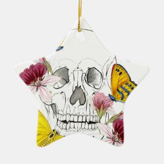Skeleton Blumen Keramik Ornament