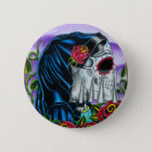 Skeleton Braut Runder Button 5,1 Cm