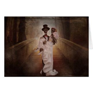 skeleton Braut- und Bräutigamgrußkarte Grußkarte