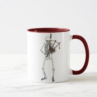 Skeleton Dudelsack-Spieler Tasse