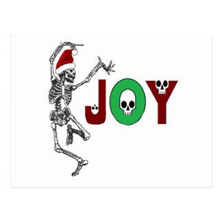 Skeleton Freude Postkarte