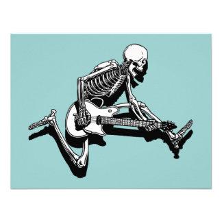 Skeleton Gitarrist springen Personalisierte Ankündigungskarten