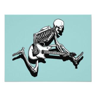 Skeleton Gitarrist springen 10,8 X 14 Cm Einladungskarte
