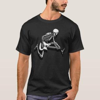 Skeleton Gitarrist springen T-Shirt