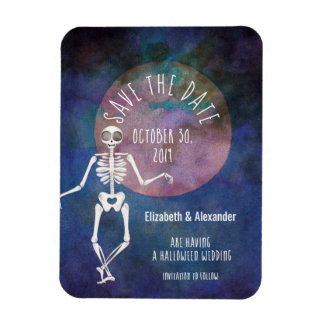 Skeleton/Halloween, das /Save das Datum Wedding Magnet