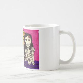 Skeleton Mädchen auf Decke Kaffeetasse