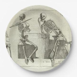 Skeleton Musiker Pappteller