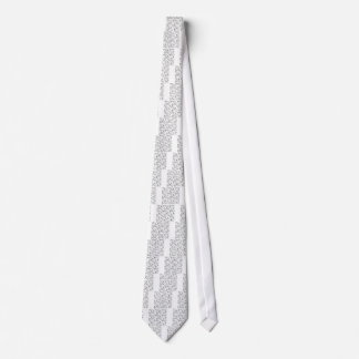 Skeleton Muster Krawatte