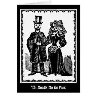 Skeleton Paare - Karte (fertigen Sie) besonders an