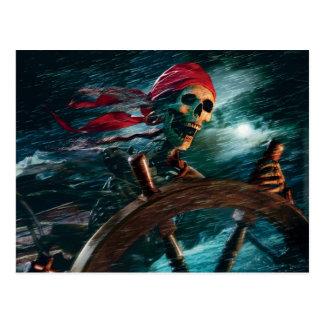 Skeleton Pirat Postkarten