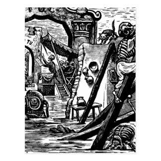 Skeleton Piraten circa 1951 Postkarte