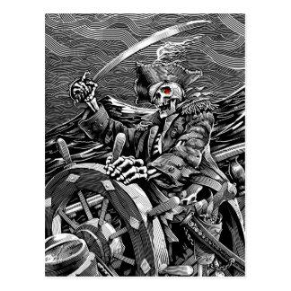 Skeleton Piraten-Postkarte BWs Postkarten