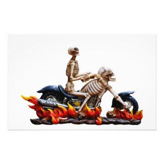 Skeleton Reiter Briefpapier