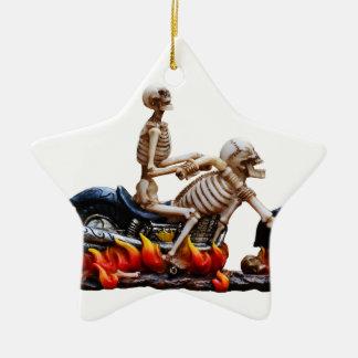 Skeleton Reiter Keramik Ornament